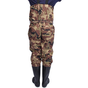 Fulljion nylon PVC coat water proof men's chest camowaders Fishing Waders