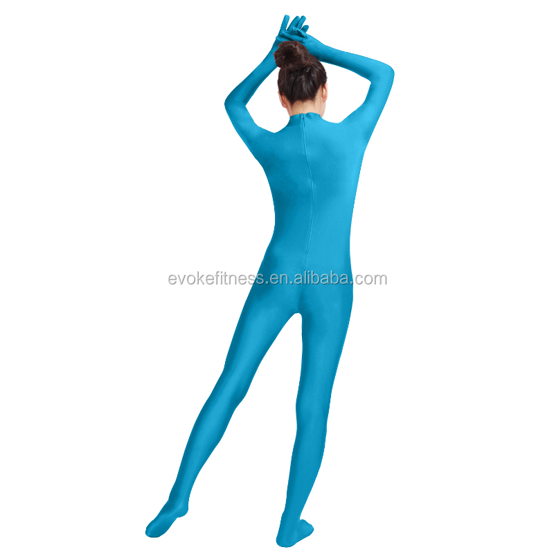 Blue Boat Neck Adult Full Body Ballet Unitard/Dance Costume/ Gymnastics Leotard/Cosplay Wear