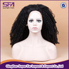 Black afro curly hair wigs for black women 100% synthetic curly wigs african american micro curly lace front wig