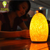 Egg shape led candle bluetooth baterry operated modern lamp blown glass table decorations