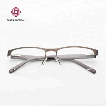999d08373d4c Best Selling Lightweight Business Half Frame Glasses Metal Eyewear Frames  For Men