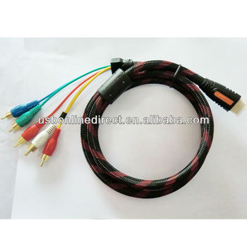 Hdmi/ Mini Hdmi To Rca Component Cable - Buy Hdmi To Rca Cable,Rca ...