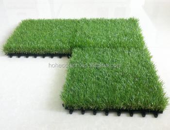 Pe incastro erba artificiale piastrelle bloccato insieme con