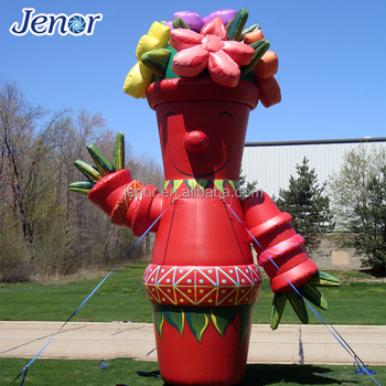 Giant Inflatable Flower Vase Cartoon Character Buy Inflatable