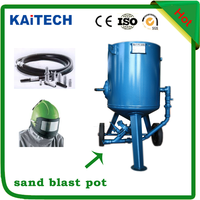Vacuum portable sand blasting machine/dustless blast pot