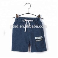 2018 Apparel factory summer clothing new model jeans pants short printed jeans for kid