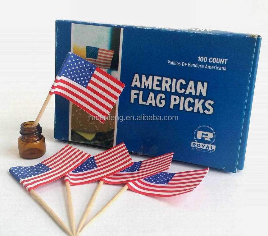 hot sale high quality Flag Toothpick & Cupcake Topper