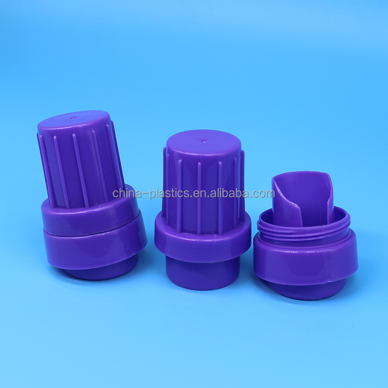 China suppliers 48mm plastic washing liquid bottle lid
