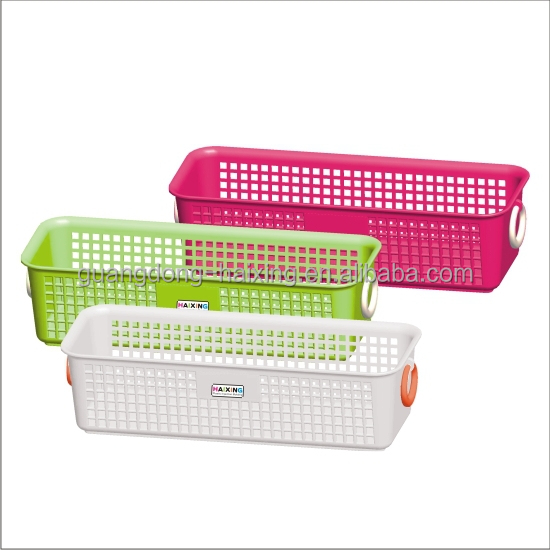 Qualified Customized Colors Square Storage Plastic Basket With Handle   Buy  Plastic Basket,Small Plastic Baskets Handles,Molded Plastic Handle Product  On ...