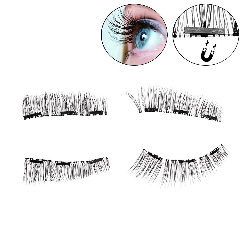 Trend Mark 10pairs/set Black Fake Eyelashes Handmade Nude Makeup Thick Extended False Eyelashes On Stage Eye Makeup Art Soft And Light False Eyelashes