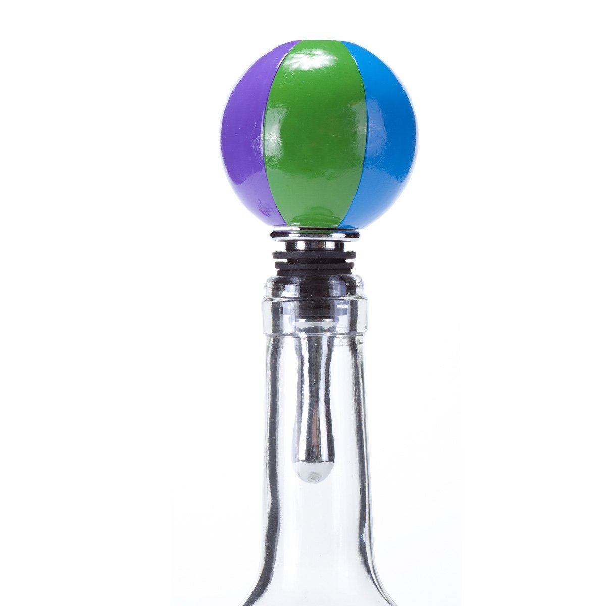 Oenophilia Sports Wine Ball Stopper, Beach Ball