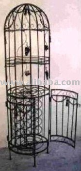round wrought iron wine rack rwr007 buy wine rack wood furniture product on alibabacom