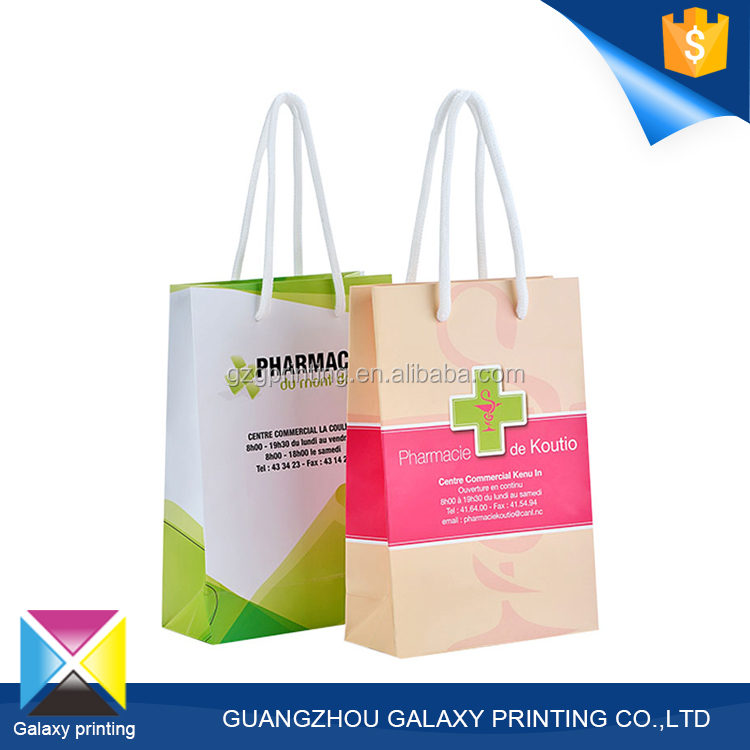 China custom printing manufactures gloss lamination making handbag shape paper gift bag