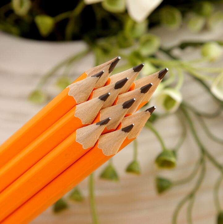 Personalised 7 Inch Popular Wooden Pencil Printed HB Pencil With Color Eraser And Advertising Logo