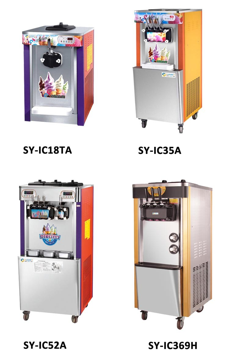 Professional 2 and 1 flavors counter top portable soft serve ice cream machine made of stainless steel