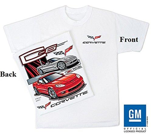 C6 Corvette Tee Shirt, Chevy C-6 Z06 Vette Apparel T Shirt, Size Large