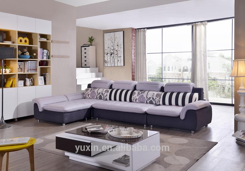 Home Furniture Small L Shape Corner Sofa Modern Wooden L Shaped