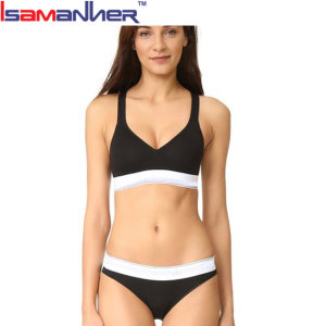 Women beautiful wide racerback hot sexi girl wear bra and panty
