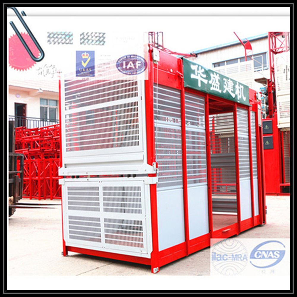 Magnetic Material construction building elevator With Steel Plate Welding Structure
