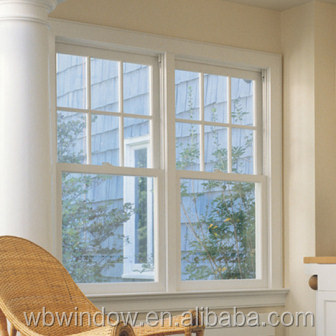 Modern Design Pvc Double Hung Window Grill Design American Style Pvc  Windows Vertical Sliding.