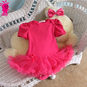 fcfda7ab504a Girls summer Baby 2 Piece Suits short Sleeve vest Bubble Tutu Dress + Headband  infant fashion