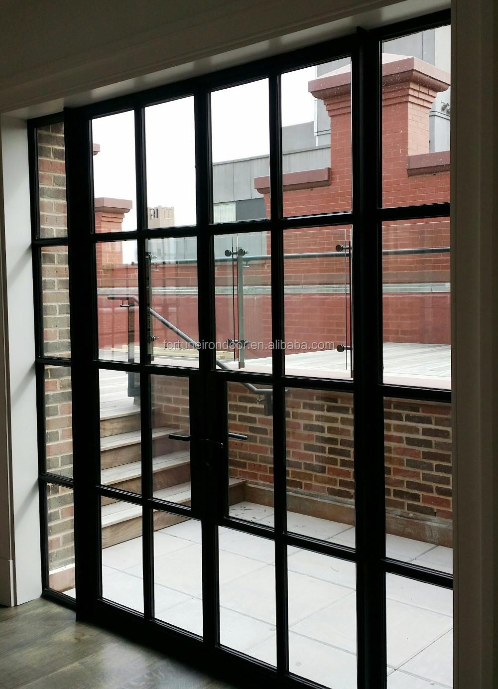 warmgewalzten stahl fenster thermisch getrennte fenster und t ren mit warme kante geh rtetem. Black Bedroom Furniture Sets. Home Design Ideas
