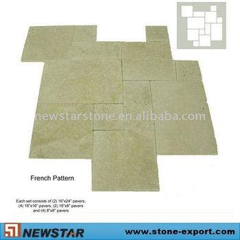 French Pattern Green Travertine Tile Buy Travertine Random Tile