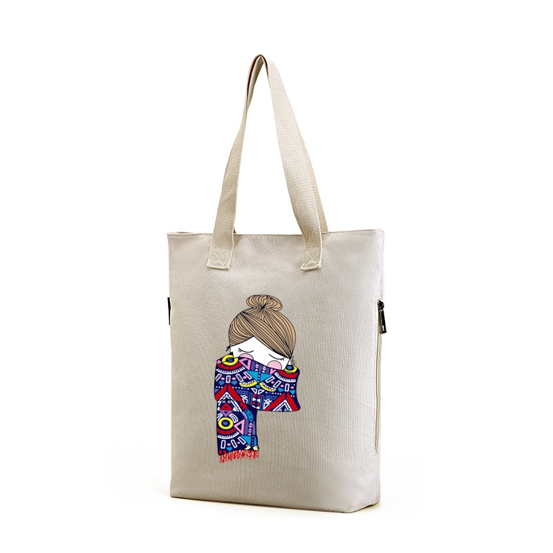 Customized colorful <strong>eco</strong> friendly tote drawstring canvas bag