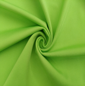 100D DTY Polyester Spandex fabric Green Charmeuse Satin Fabric