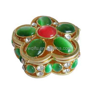 Wholesale china import gift items fashion stainless steel jewelry box for indian jewelry online QF967