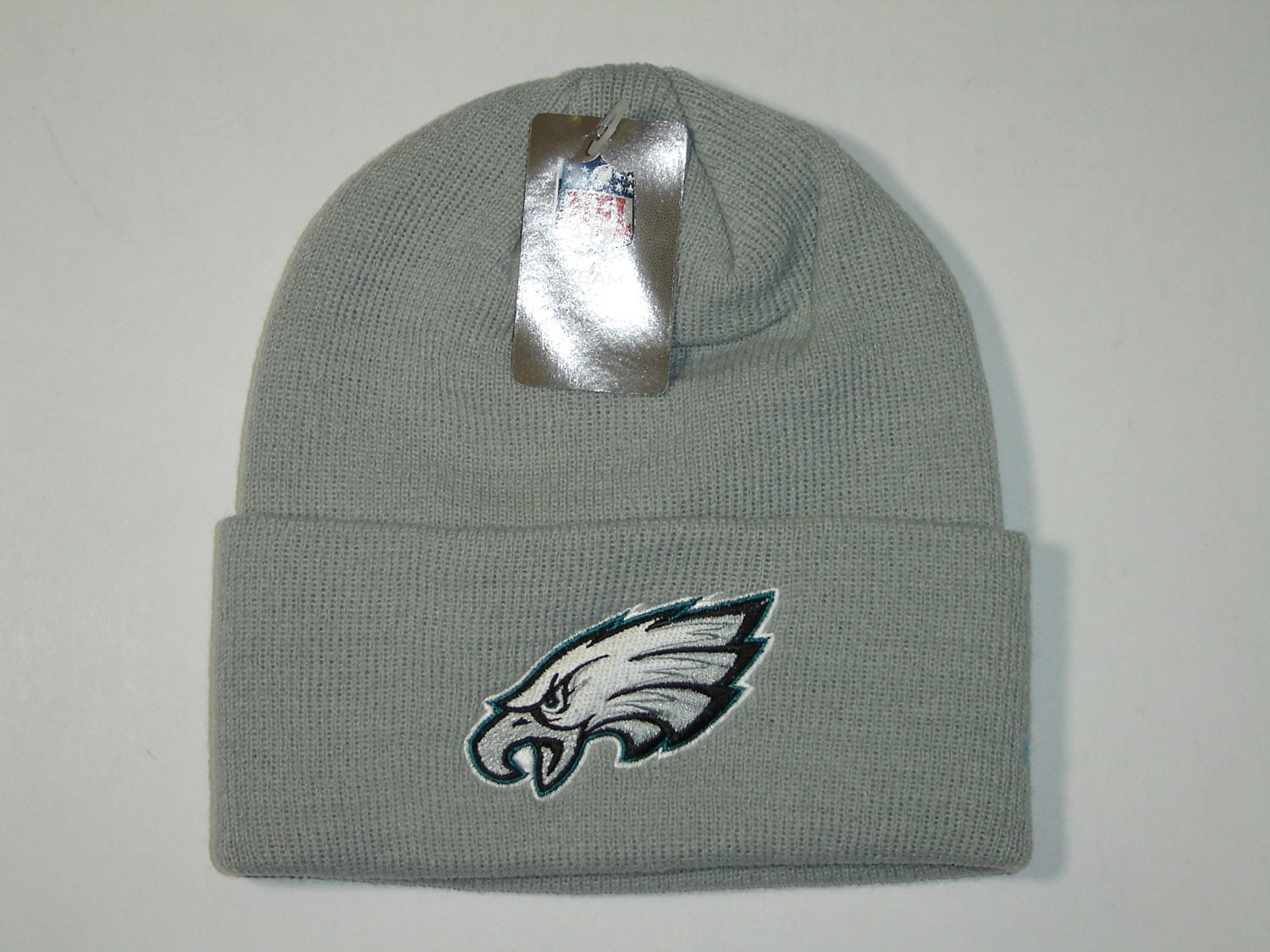 Get Quotations · Authentic NFL Philadelphia Eagles Gray Classic Logo Cuffed  Knit Beanie Hat Cap 330843c9c