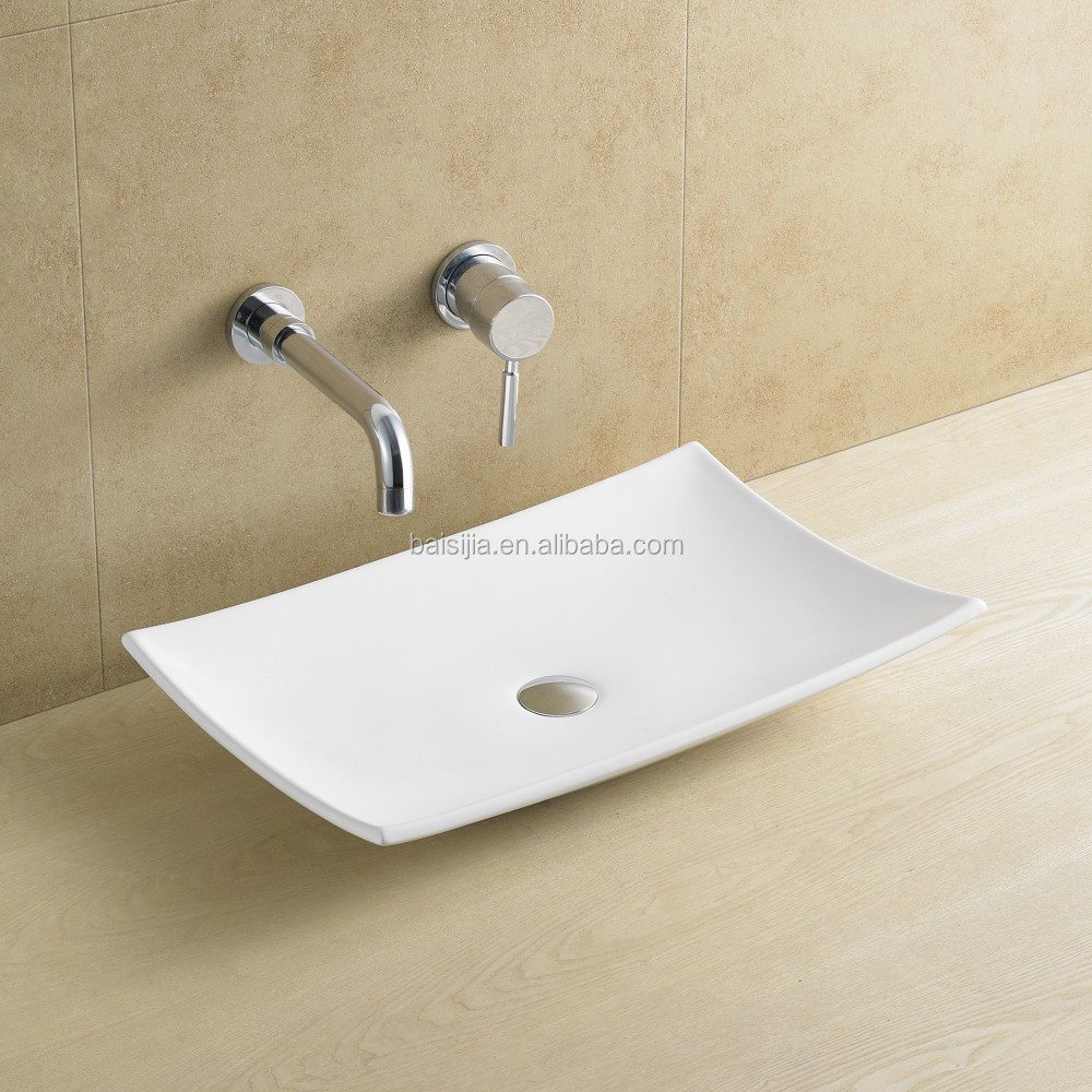 High quality ceramic above counter top wash basin/bathroom sink (BSJ-A8029)