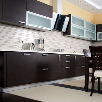Exceptional Affordarble Modern Two Color Combination Modular Kitchen Cabinets With  Invisible Cabinet Handle