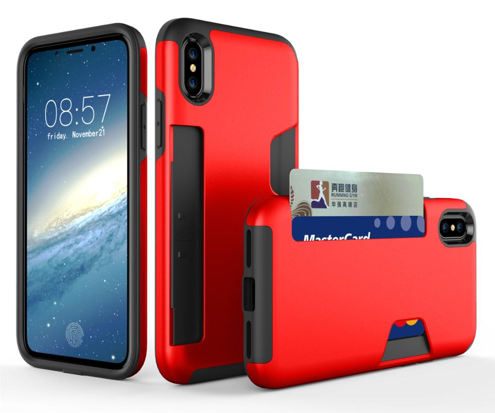 finest selection acb09 84c7d Shockproof Protective Tpu Pc Credit Card Business Card Holder Phone Case  For Iphone 8 Plus Cover,For Iphone 8 Case - Buy For Iphone 8 Case,For  Iphone ...