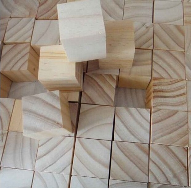 1-inch Natural Unfinished Hardwood Craft Wood Blocks pine wood cubes
