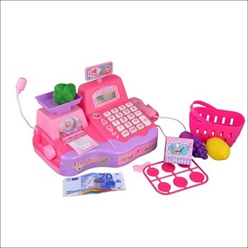 Multifunctional Kids Educational Play Cash Register Toys With Microphone And Real Calculator