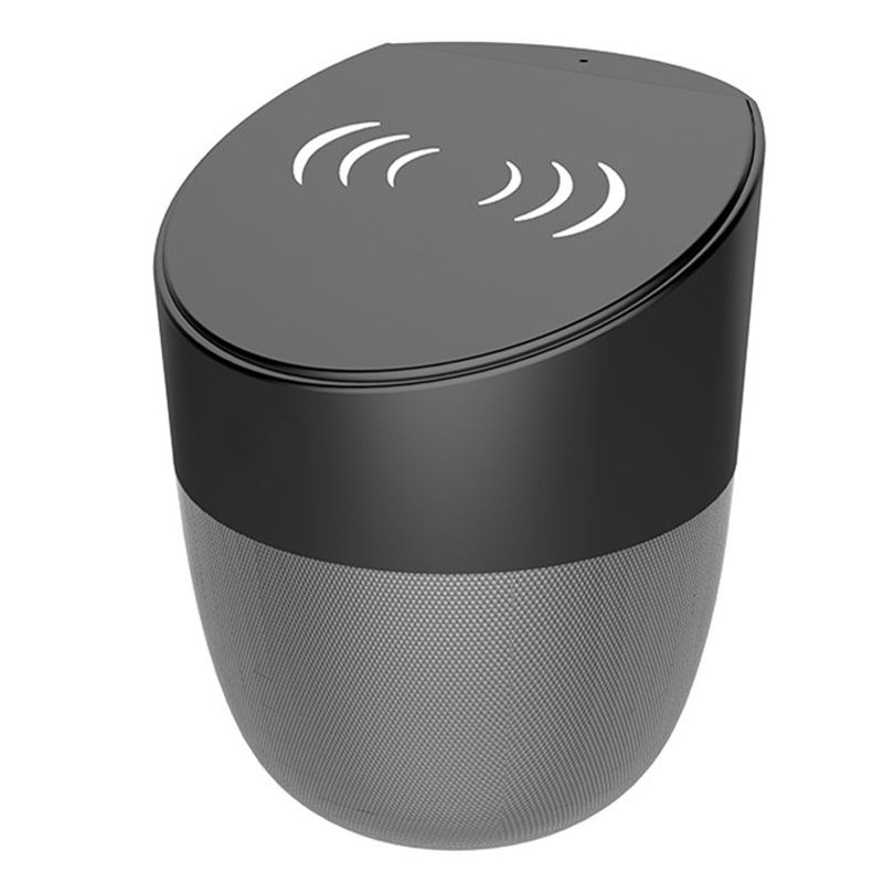 Amazon Best Seller Qi Wireless Charger Speaker, Fast Wireless Charger Stand for iPhone Wireless Phone Charger with BT Speaker