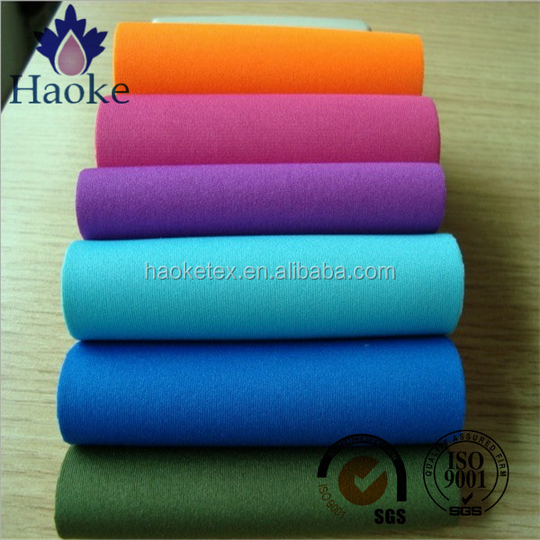 pink neoprene fabric with double-sied polyester knitted fabric