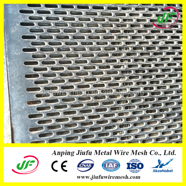 slot hole Stainless steel or galvanized metal Punched Plate