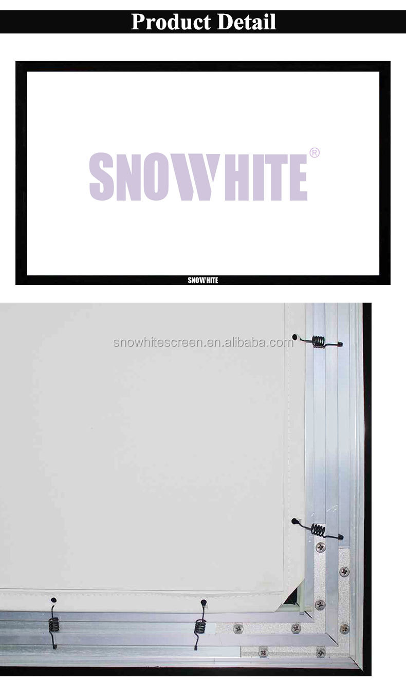 120''inch 16:9 Fixed Frame 4K Ultra HD Projection Screen