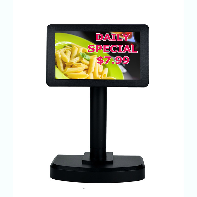 PD7000 USB/RS232 Restaurant Supermarkt Werbung 7 Zoll POS system Display Bild kunden Display mit CE FCC