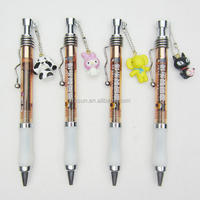 Custom advertising cute cartoon silicone decorating pendant ballpoint pen