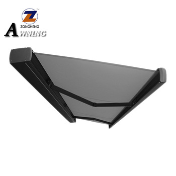 Commercial Outdoor Remote Control Electric Full Cassette Motorized Aluminium Retractable Awnings for garden with LED light