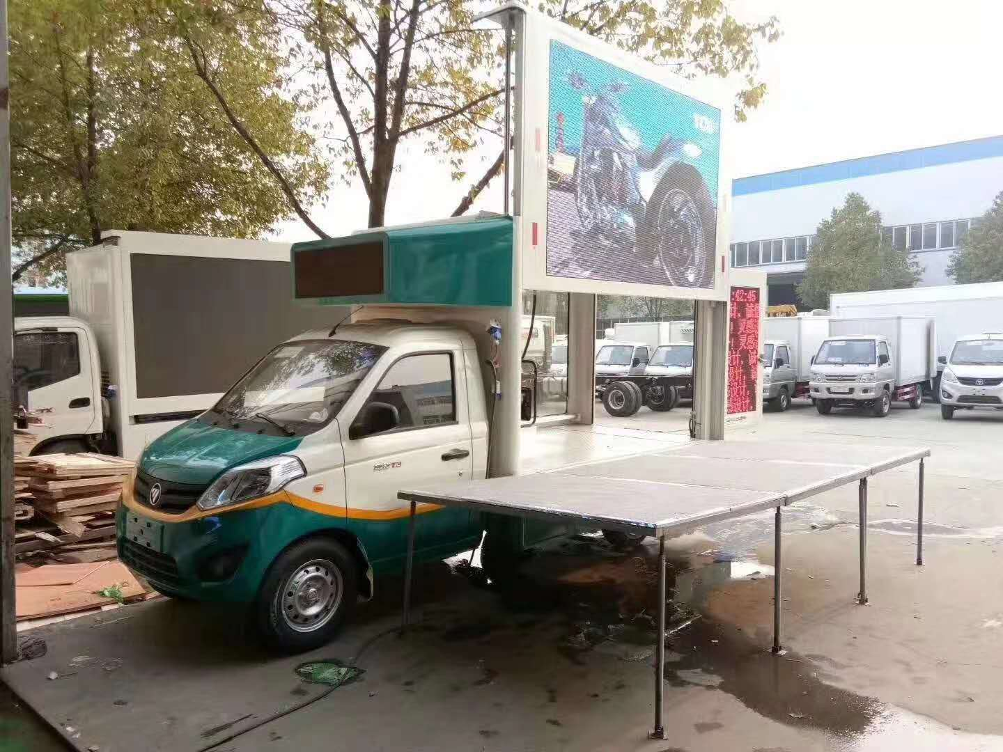 3.3 meters long  led mobile screen advertising Billboard truck