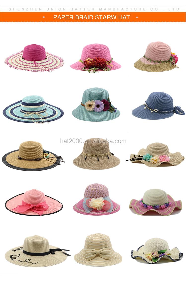 7f0c5226 Summer handmade flower straw hat women's Garland sun bonnet bucket hat  beach cap sun hat for