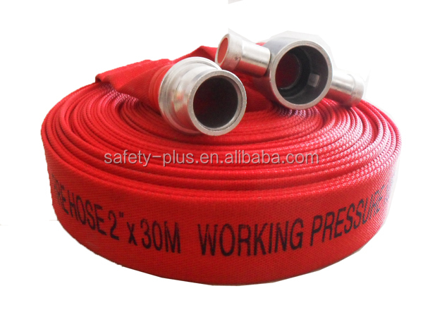 Red Canvas Fire Hose