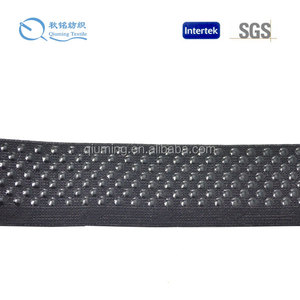 Sports wears and underwears waist bands silicone gripper elastic