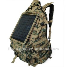 Hot Sell Waterproof Cordura Camouflage Military Solar Backpack