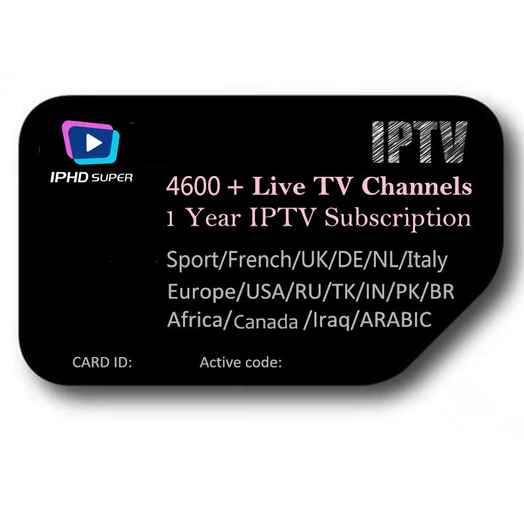 2019 Hot Sale IPTV Server With Arabic,Brazil, USA, Canada, Africa Indian Channels IPTV Subscription