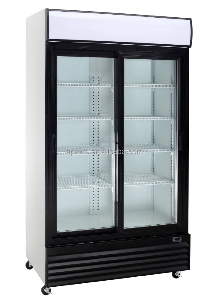 700L Cocola type Glass Two Door Upright beverage Refrigerator
